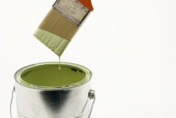 Several types of paint are suitable for concrete floors.