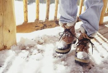Calcium chloride can come into your house on snowy boots.