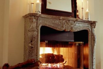 Decorate around a gas fireplace for a cozy look and feel.
