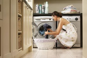 Washers and dryers are easily installed in laundry rooms.