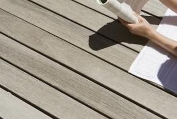 The type of deck stain used is a major factor.