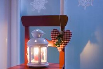 Decorate the space around a feature window for increased holiday cheer.