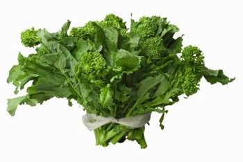 Broccoli rabe is a healthy source of vitamin A.