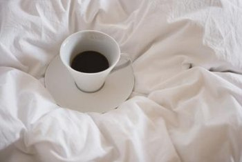 Black coffee gives you a jolt of caffeine in the morning.