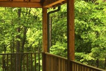 Coped logs create clean-looking deck railings.