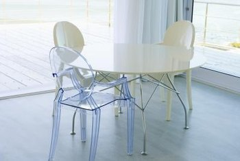 Clear acrylic furniture pieces are prone to scratching.