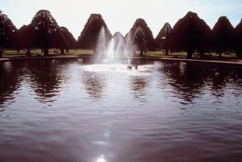 Create effects that also help to aerate your pond with a fountain spray nozzle.