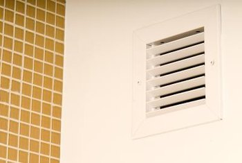 Louvered vents direct air into a home.