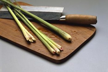 Cut lemongrass into 3- to 4-inch-long pieces to make removal easier.