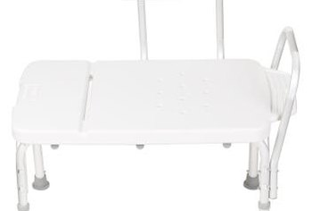 Some shower benches have removable backs and adjustable arms.