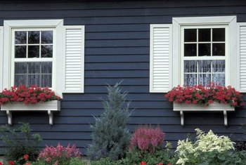 Window shutters are a charming addition to a home design.