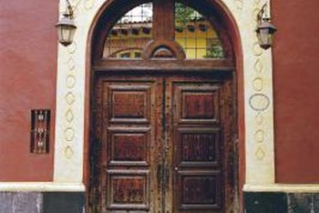Beautiful Protect Your Exterior Wood Doors With Varnish.