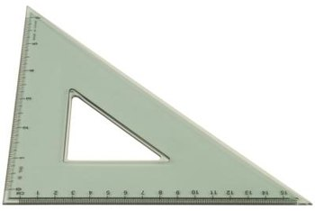 A speed square is used to mark the angle cuts when you make joist braces.