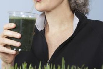 Wheatgrass is juiced to make a health drink.