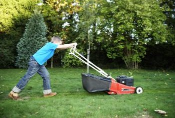 Mow grass when it's dry to prevent it from clogging your mower.