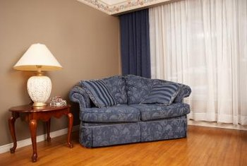 Floor To Ceiling Curtains Can Hide Clutter Or Damaged Walls.