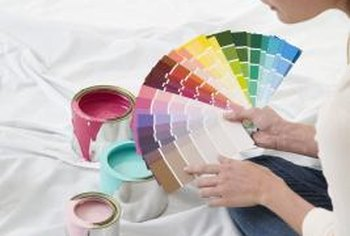 Acrylic or latex paints mix with white latex for new shades.