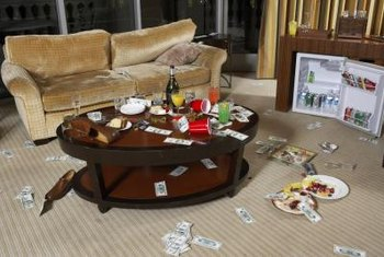 Couch damage is often the result of abuse.