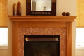 Mantel designs range from simple to ornate.