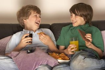 Eating chocolate on the couch sometimes results in chocolate stains.