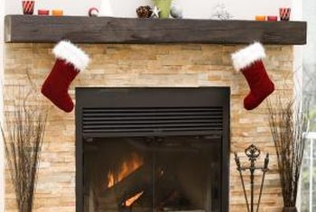A brick fireplace lends itself to a variety of design themes.