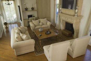 Furniture arrangement can help divide a large room.