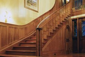 Hardwood treads and risers bring warmth and elegance to a staircase.