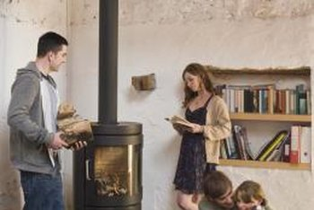 Wood stoves exhaust smoke through a flue or chimney.