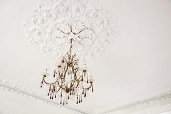 Create a ceiling medallion with a stencil.