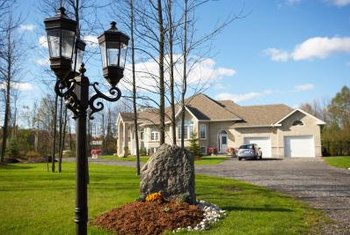 A simple paint job vastly changes the appearance of an exterior light pole.