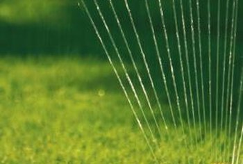 Garden hoses need adequate water pressure to run a sprinkler