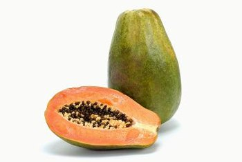Fresh papaya contains sugar, but not a large amount.