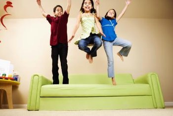 It may seem unconventional, but having the kids jump on the couch will help soften its cushions.