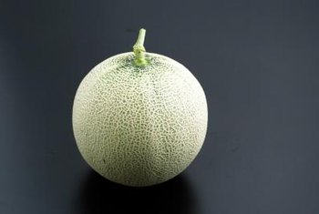 Ripe cantaloupes should feel heavy for their size.