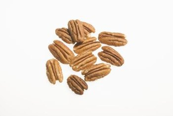 Pecan trees produce nuts abundantly every other year or so.