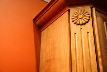 Crown molding provides a decorative finish and an interesting focal point in a room.