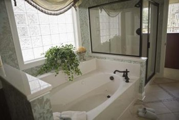 Delightful Modern Bathrooms Sport Large Tubs And Walk In Showers.