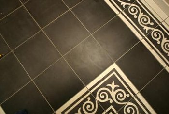 Ceramic tiles will not adhere to a painted floor.