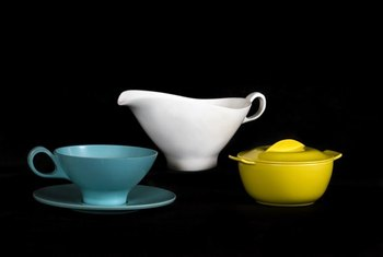 Dinnerware of the 1950s varied greatly, but one of its signature elements was bold solid colors.