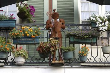 Combine window pots with found objects for a touch of whimsy.