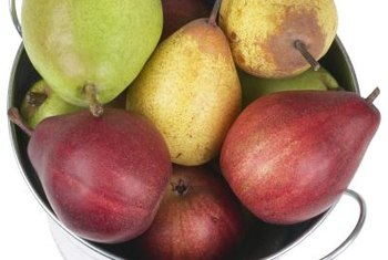 European pears are harvested unripe while Asian varieties are ripened on the tree.
