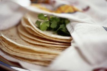 Tortillas are traditionally made with refined white flour.