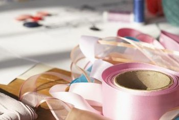 Sturdy tapes or ribbons create belt loops for your curtain header.
