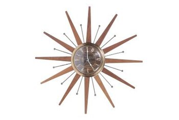 In addition to telling time, a wall clock can make a bold design statement.