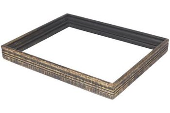Shallower shadow box frames are more suitable for groupings with regular frames.