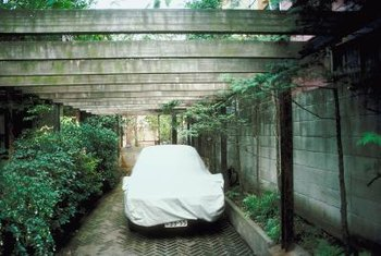 Keep shrubbery around your carport low and tidy.