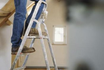 Before climbing the ladder to begin work, make sure you have a helper as a safety precaution.