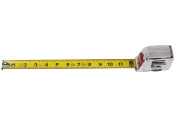 A tape measure is an essential tool when measuring your windows.