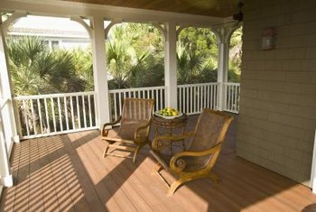 The size of your porch should match the scale of your home and yard.