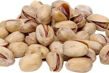Pistachio nuts split when they are ripe.